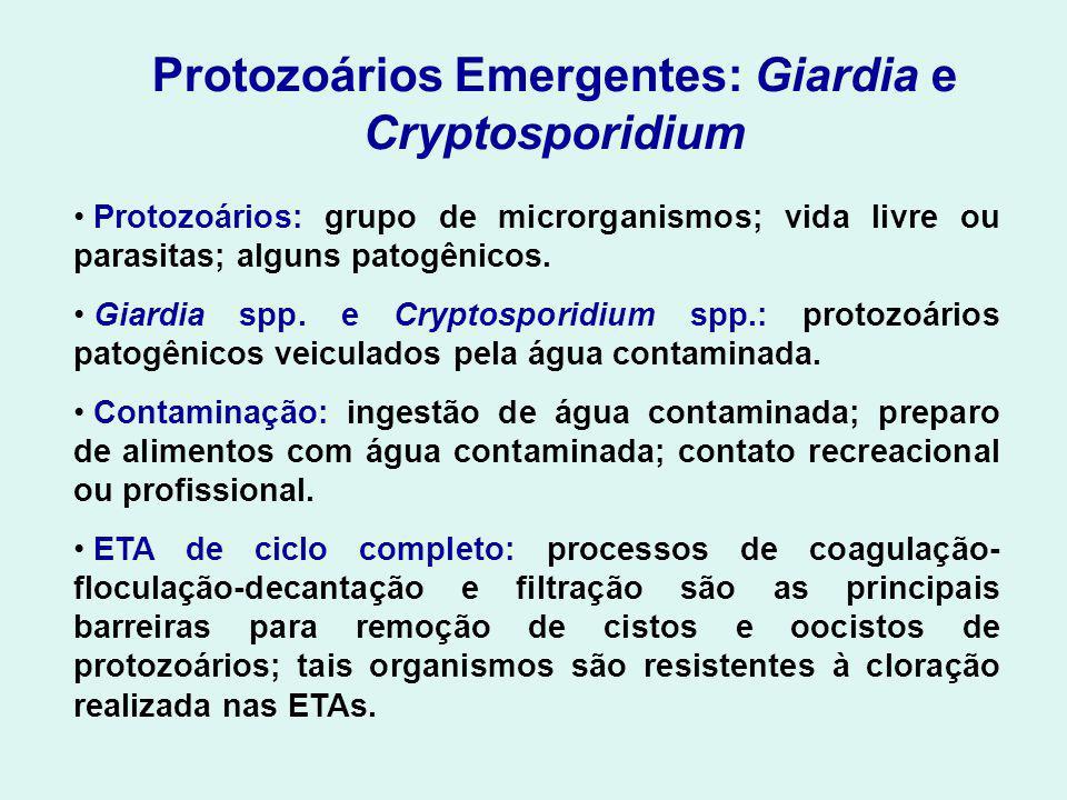 Protozoários Emergentes: Giardia e Cryptosporidium Protozoários: grupo de microrganismos; vida livre ou parasitas; alguns patogênicos.