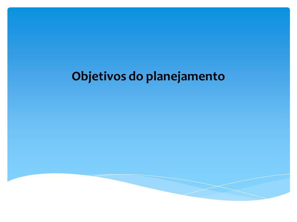 Objetivos do planejamento