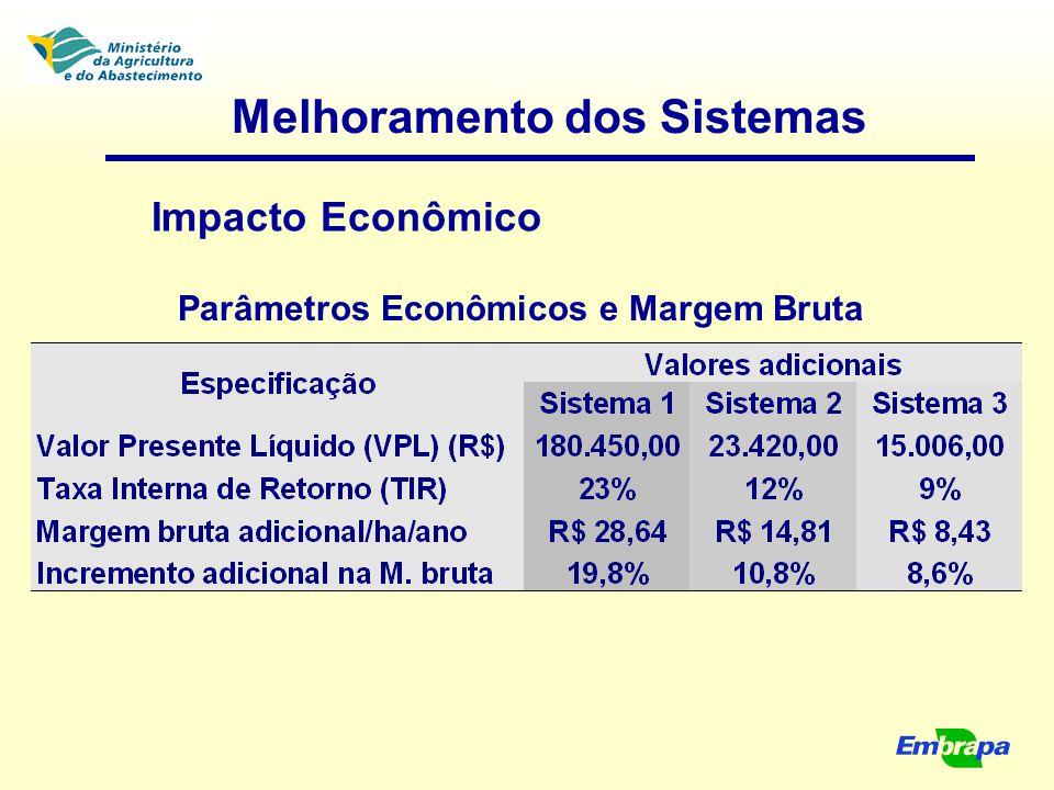 Melhoramento dos Sistemas Parâmetros Econômicos e Margem Bruta Impacto Econômico