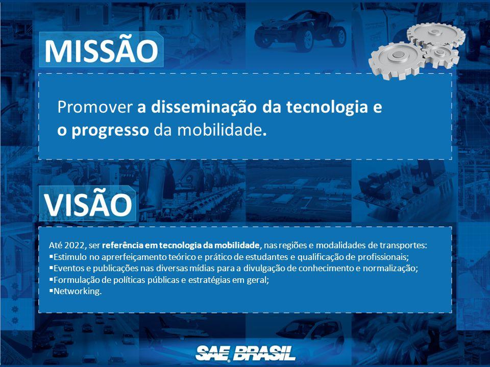 Promover a disseminação da tecnologia e o progresso da mobilidade. Até 2022, ser referência em tecnologia da mobilidade, nas regiões e modalidades de