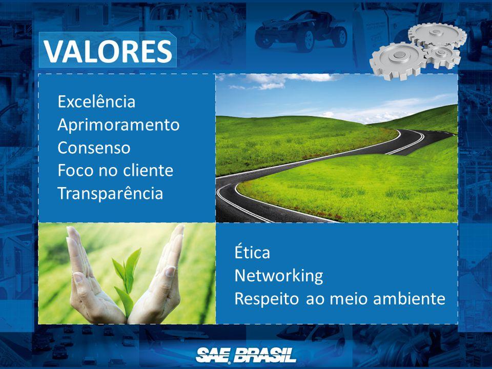 Excelência Aprimoramento Consenso Foco no cliente Transparência Ética Networking Respeito ao meio ambiente