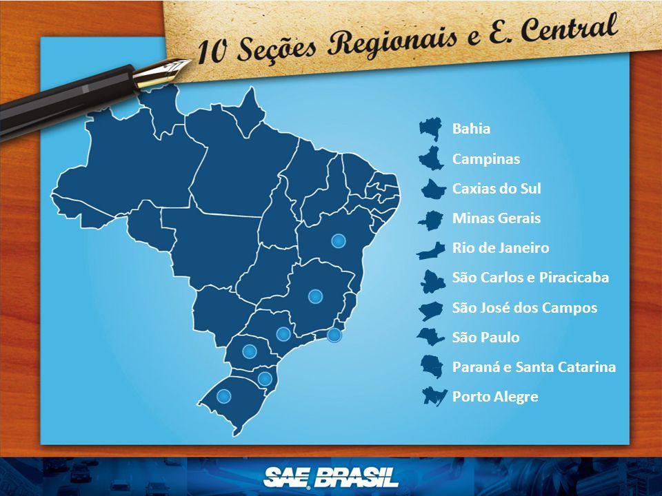 Bahia Campinas Caxias do Sul Minas Gerais Rio de Janeiro São Carlos e Piracicaba São José dos Campos São Paulo Paraná e Santa Catarina Porto Alegre