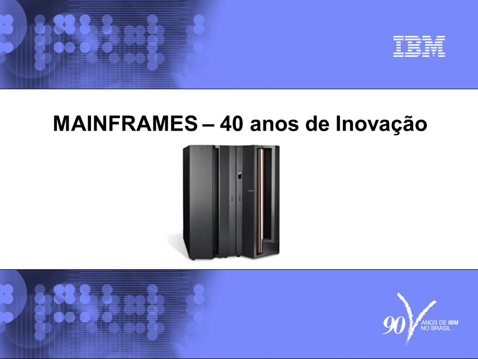© 2006 IBM Corporation IBM Systems & Technology Group 12 Comparação onde mainframe deve ser usado There s more to performance than just processing power CPU Time Memory Time I/O Time CPU Busy CPU Time Memory Time I/O Time CPU Busy Mainframe Others Data intensive workloads like large databases, transaction processing, object-oriented code and context switching potentially run better on zSeries servers.