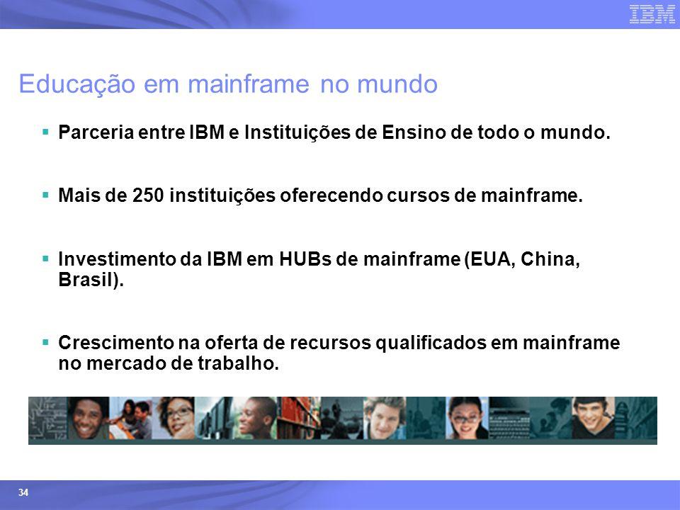Ecossistemas (Universidades e ISVs) - © 2005 IBM Corporation 34 Educação em mainframe no mundo  Parceria entre IBM e Instituições de Ensino de todo o