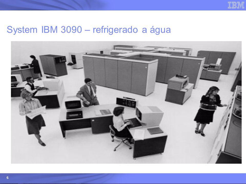 © 2006 IBM Corporation IBM Systems & Technology Group 7 Arquitetura do MAINFRAME PROCESSADORES (SINGLE OU DUAL CORE) CP – uso geral SAP – processador assistente para gerenciamento de I/O e balanceamento de carga Dedicado – ICF, IFL, zAAP, zIIP, Criptografia, spare – funções especificas CLOCK – velocidade do processador MEMÓRIA (CACHE L1, CACHE L2, RAM) I/O – entrada e saída de dados (Discos/Fitas/Terminais/Impressoras) Rede de Comunicação TCP/IP – comunicação externa Hipersockets – rede virtual interna Sistemas Operacionais ( z/OS, z/VM, z/VSE, TPF, Linux) Microcódigo gestão de recursos (Particionamento, Integração, Segurança)