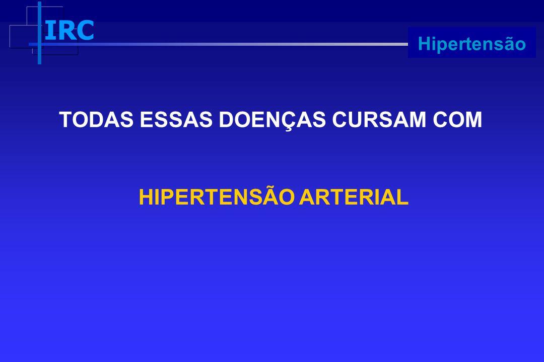 IRC Progressão TODAS ESSAS DOENÇAS CURSAM COM HIPERTENSÃO ARTERIAL Hipertensão
