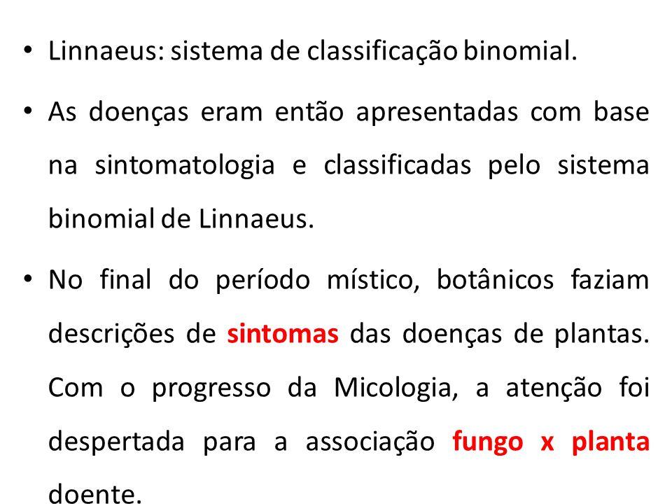 Linnaeus: sistema de classificação binomial.