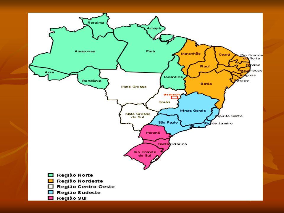 Os limites das regiões sempre coincidem com limites de estados, não havendo estados que se espalhem por duas regiões.