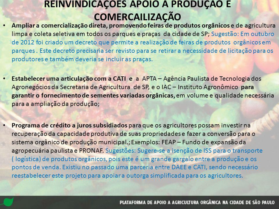 Estabelecer uma articulação com a CATI e a APTA – Agência Paulista de Tecnologia dos Agronegócios da Secretaria de Agricultura de SP, e o IAC – Instit