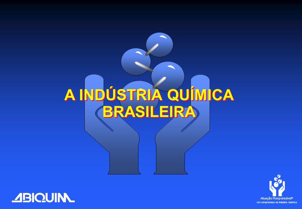 Atuação Responsável ® Um compromisso da Indústria Química A INDÚSTRIA QUÍMICA BRASILEIRA