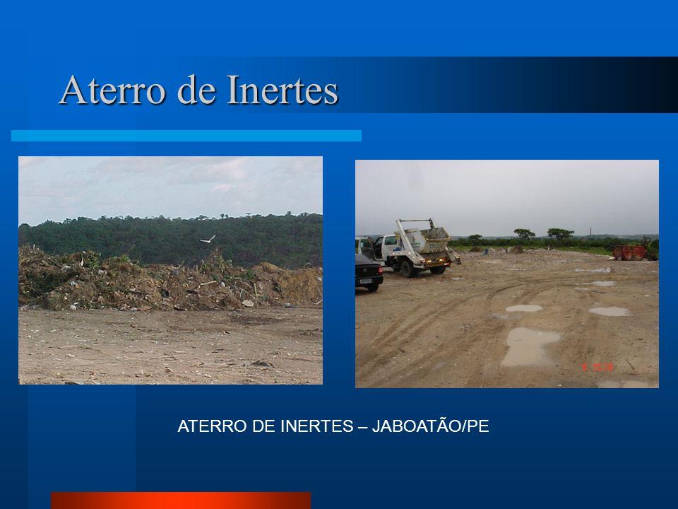ATERRO DE INERTES – JABOATÃO/PE Aterro de Inertes