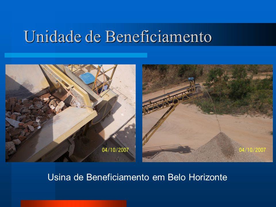 Unidade de Beneficiamento Usina de Beneficiamento em Belo Horizonte