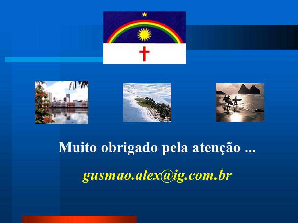 Muito obrigado pela atenção... gusmao.alex@ig.com.br