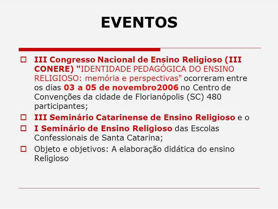 EVENTOS  III Congresso Nacional de Ensino Religioso (III CONERE)