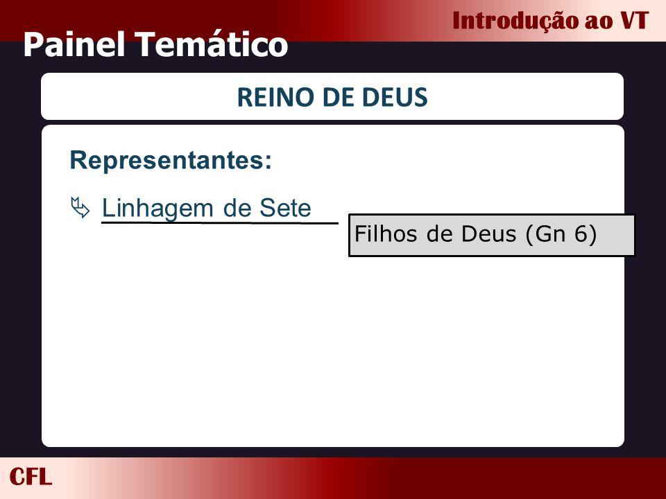 CFL Introdução ao VT Painel Temático REINO DE DEUS Representantes:  Linhagem de Sete Filhos de Deus (Gn 6)