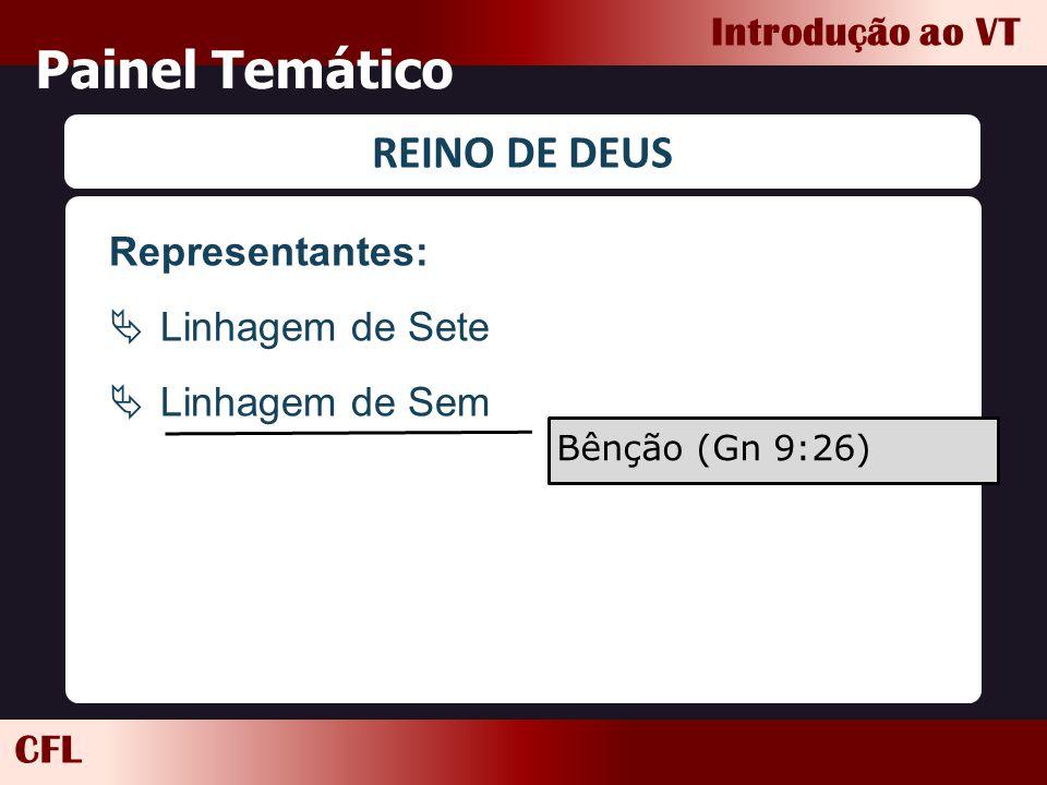 CFL Introdução ao VT Painel Temático REINO DE DEUS Representantes:  Linhagem de Sete  Linhagem de Sem Bênção (Gn 9:26)