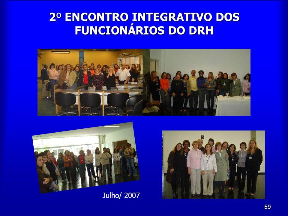 59 2º ENCONTRO INTEGRATIVO DOS FUNCIONÁRIOS DO DRH Julho/ 2007