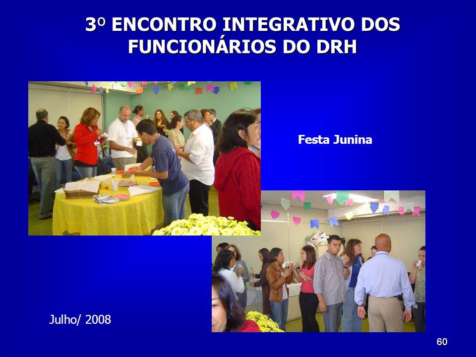 60 Julho/ 2008 3º ENCONTRO INTEGRATIVO DOS FUNCIONÁRIOS DO DRH Festa Junina