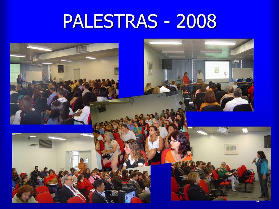 61 PALESTRAS - 2008