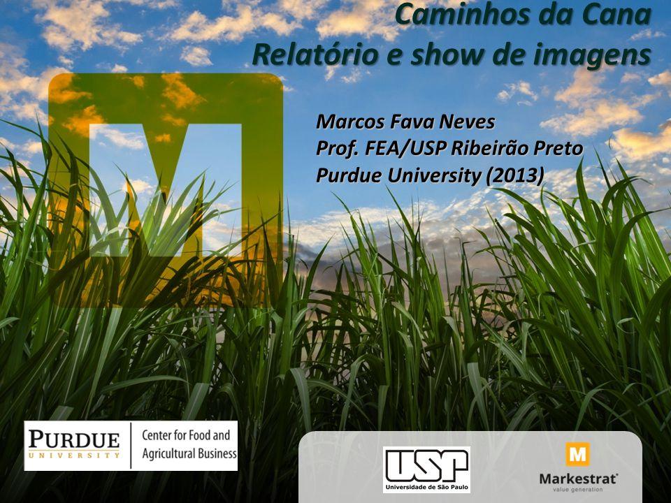 Caminhos da Cana Relatório e show de imagens Marcos Fava Neves Prof. FEA/USP Ribeirão Preto Purdue University (2013)