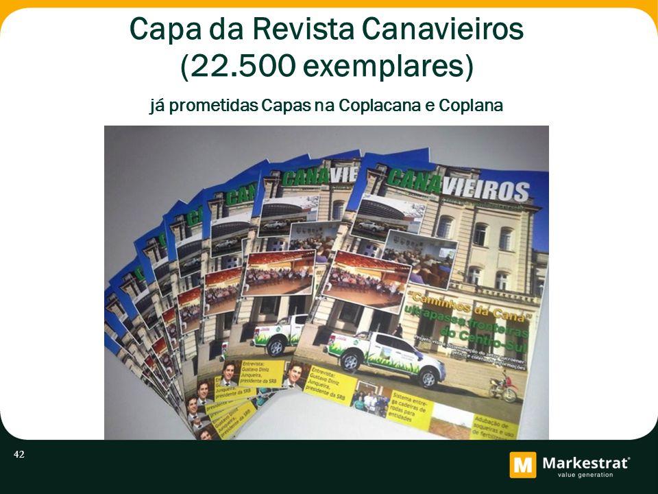 Capa da Revista Canavieiros (22.500 exemplares) já prometidas Capas na Coplacana e Coplana 42