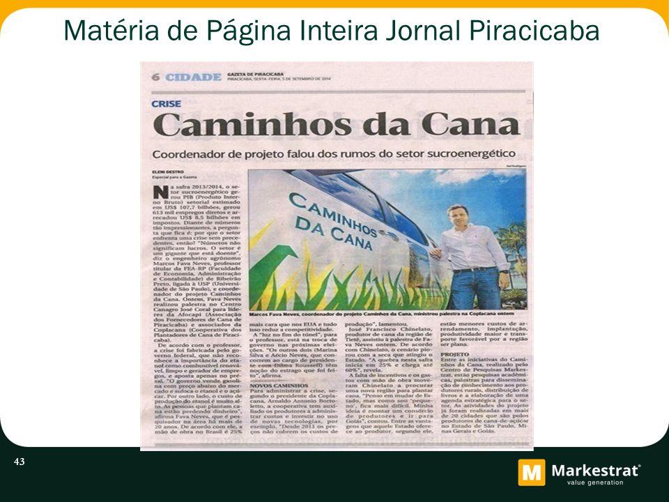 Matéria de Página Inteira Jornal Piracicaba 43