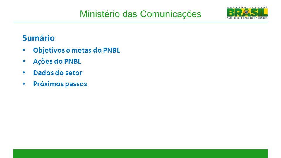 Objetivos e metas do PNBL