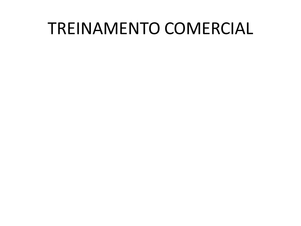 TREINAMENTO COMERCIAL