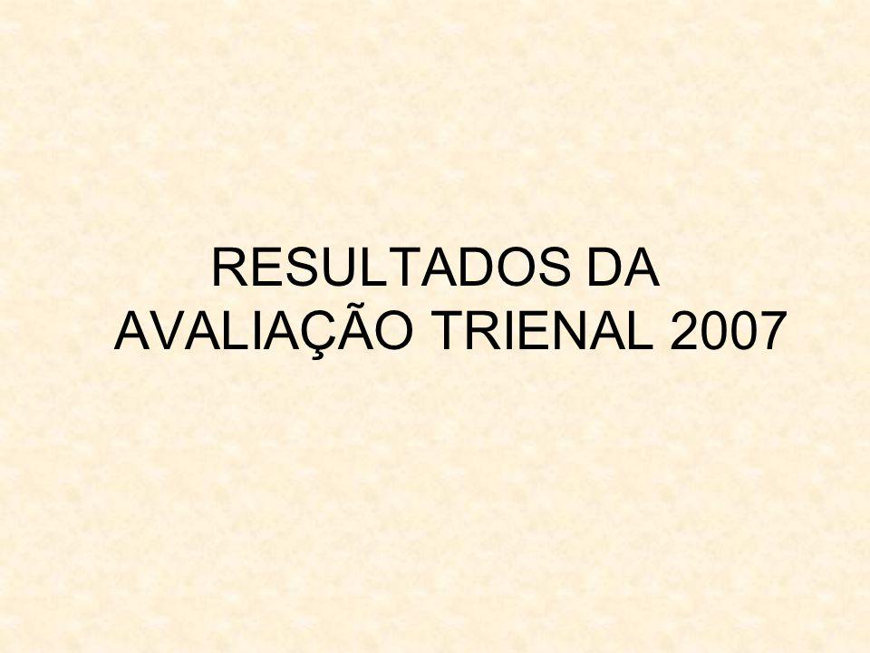 RESULTADOS DA AVALIAÇÃO TRIENAL 2007