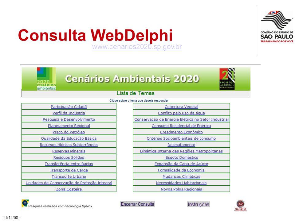 Consulta WebDelphi 11/12/08 www.cenarios2020.sp.gov.br
