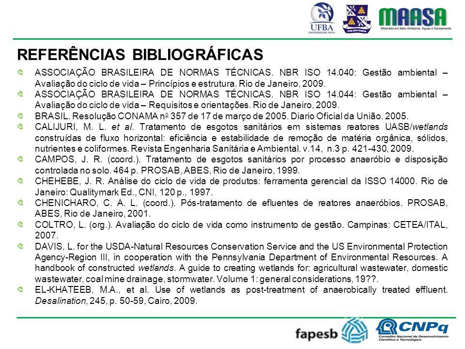 REFERÊNCIAS BIBLIOGRÁFICAS ASSOCIAÇÃO BRASILEIRA DE NORMAS TÉCNICAS.