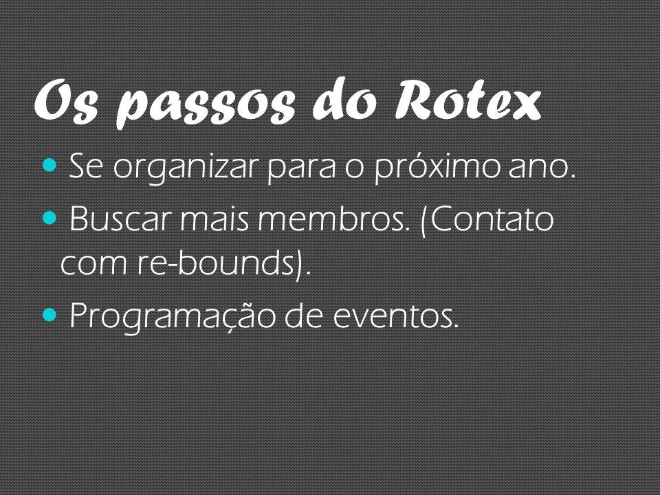 Os passos do Rotex Se organizar para o próximo ano.