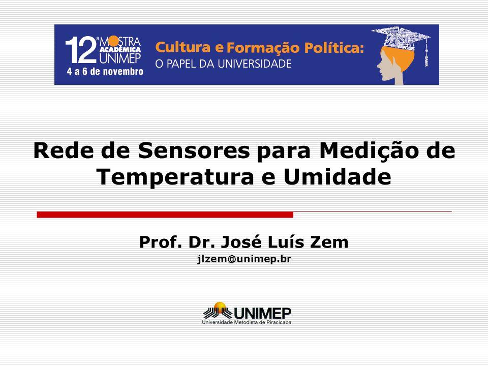 Rede de Sensores para Medição de Temperatura e Umidade Prof. Dr. José Luís Zem jlzem@unimep.br