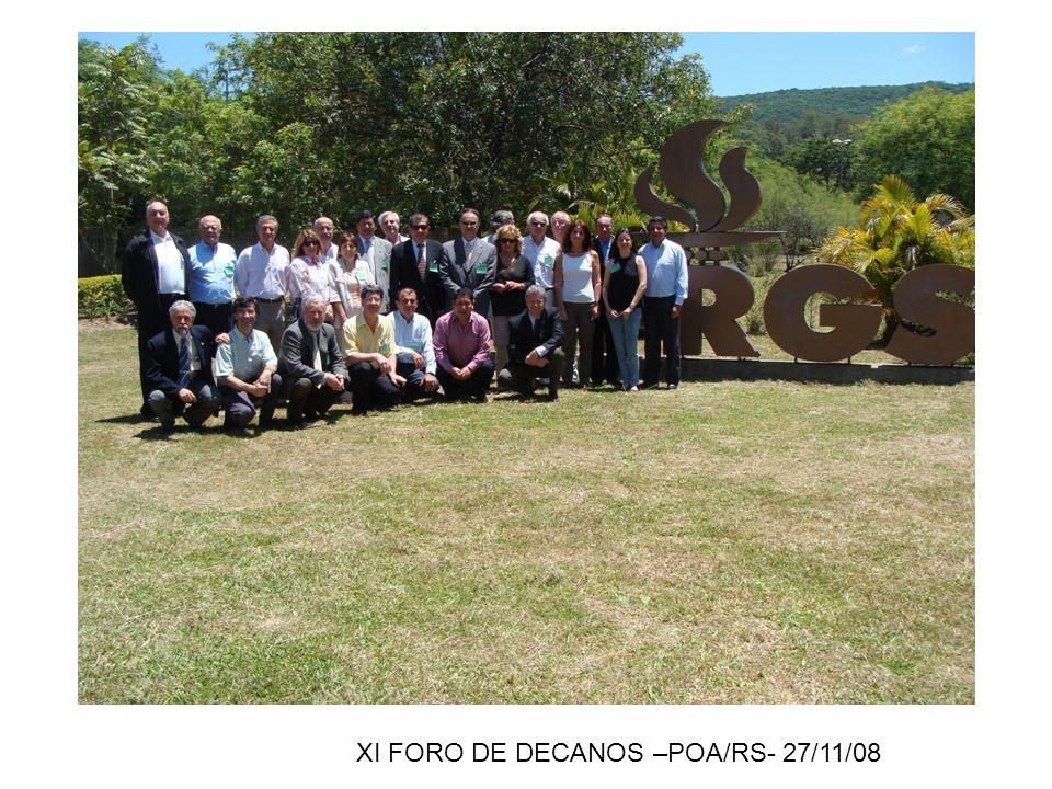 XI FORO DE DECANOS –POA/RS- 27/11/08