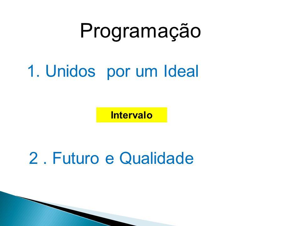 Programação 1. Unidos por um Ideal Intervalo 2. Futuro e Qualidade