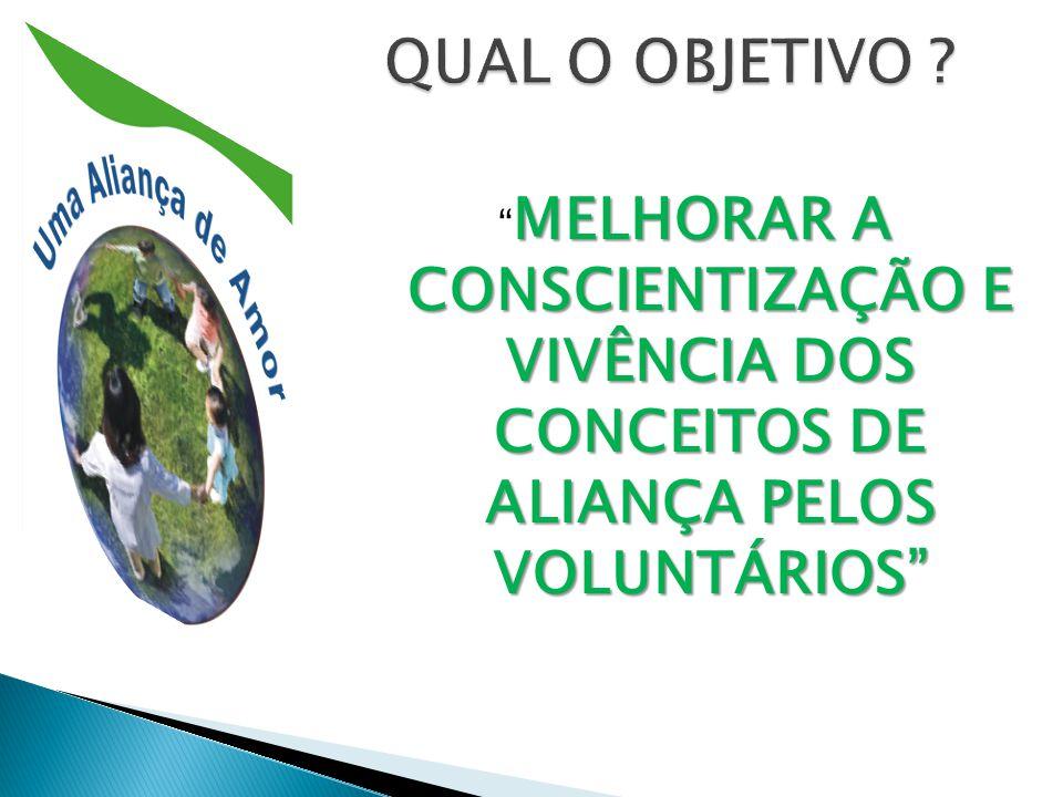 MELHORAR A CONSCIENTIZAÇÃO E VIVÊNCIA DOS CONCEITOS DE ALIANÇA PELOS VOLUNTÁRIOS MELHORAR A CONSCIENTIZAÇÃO E VIVÊNCIA DOS CONCEITOS DE ALIANÇA PELOS VOLUNTÁRIOS