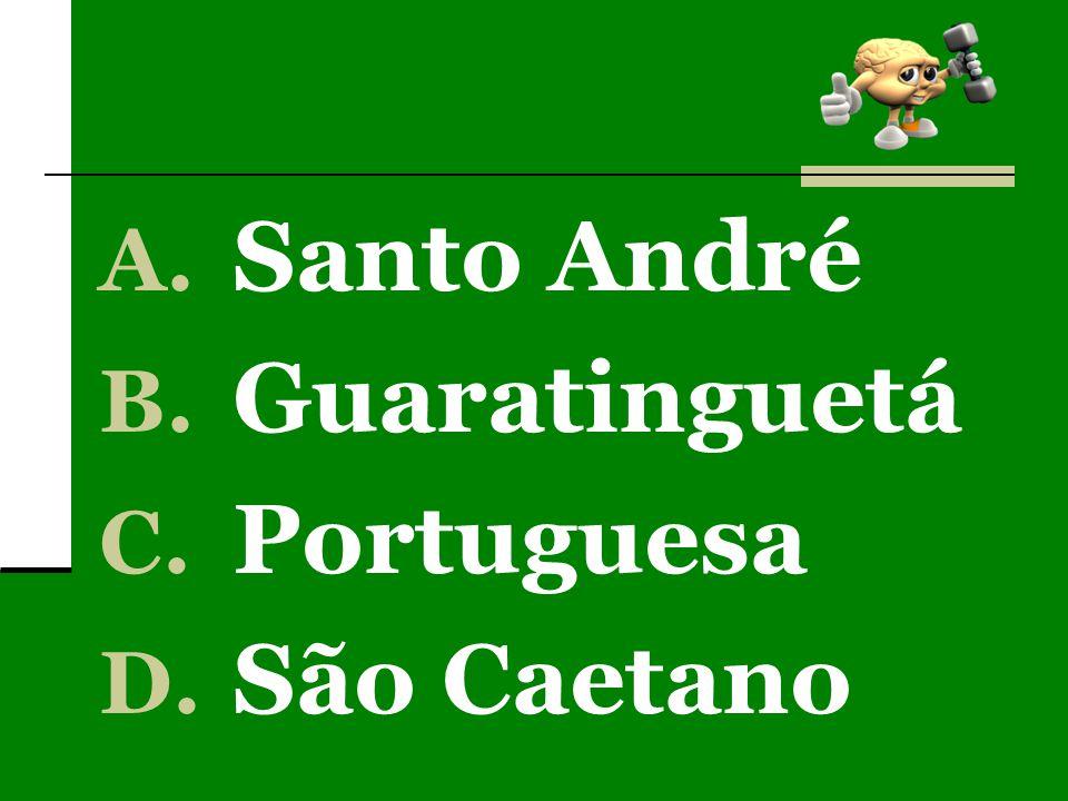 A. Santo André B. Guaratinguetá C. Portuguesa D. São Caetano