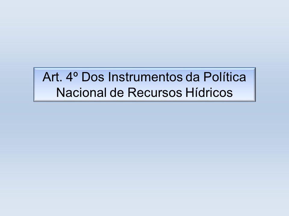 Art. 4º Dos Instrumentos da Política Nacional de Recursos Hídricos