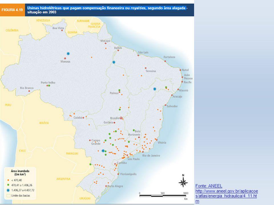 Fonte: ANEEL http://www.aneel.gov.br/aplicacoe s/atlas/energia_hidraulica/4_11.ht m