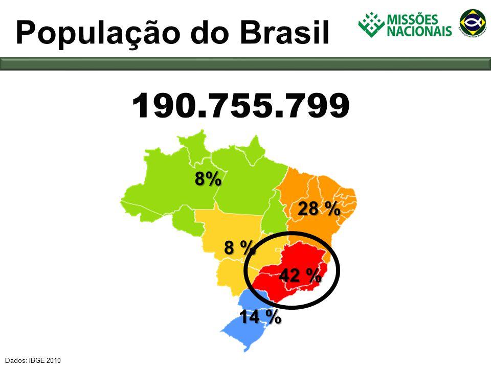 Dados: IBGE 2010 14 % 42 % 8 % 28 % 8%