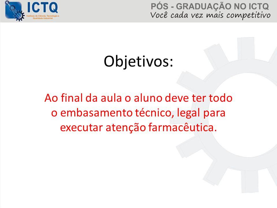 Legislação No Brasil, ainda não temos leis que regulamentem a prática da atenção farmacêutica.