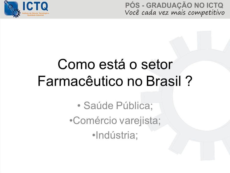 Setor Farmacêutico Com o processo de industrialização em vários setores, que incluiu o de medicamentos, a produção assume características diferenciadas.