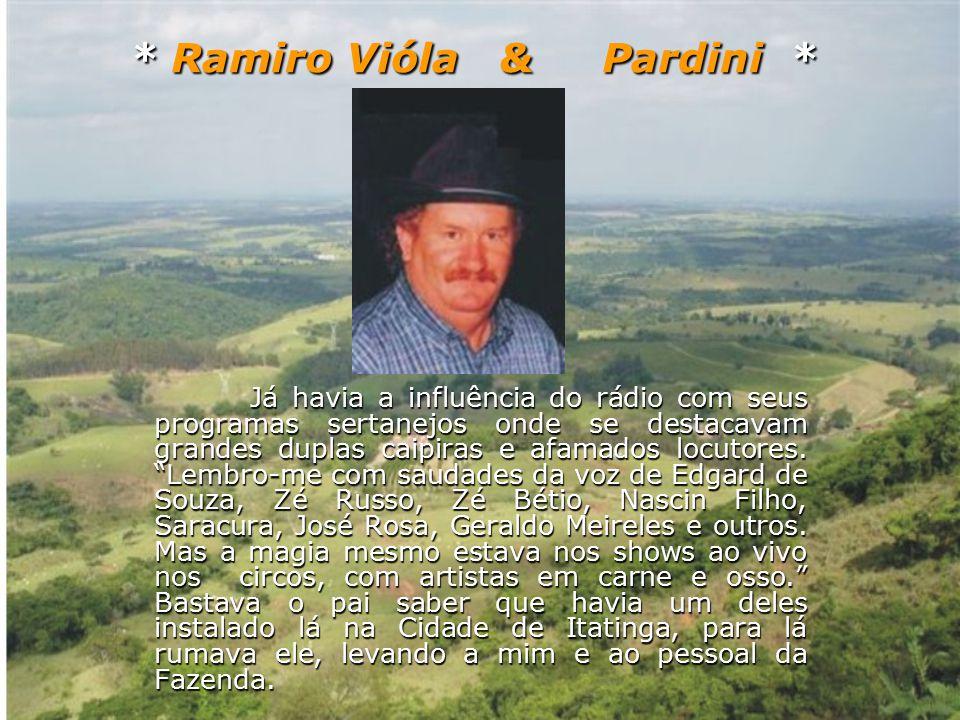 Ramiro Vióla e Pardini estão sempre participando de: Eventos Culturais, Programas de TVs, Rádios, Aniversários de Cidades etc...