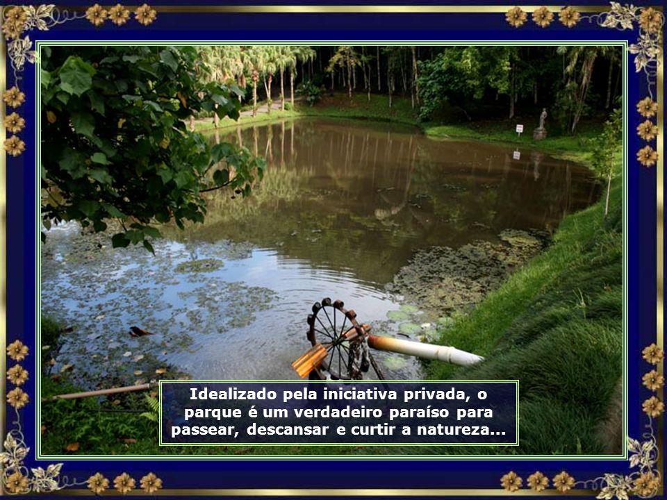 Estilo europeu nas construções são comuns em Jaraguá do Sul, como esta no Parque Malwee...