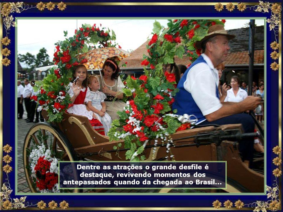 A Festa Pomerana comemora o aniversário da cidade e também da imigração alemã para o Brasil...