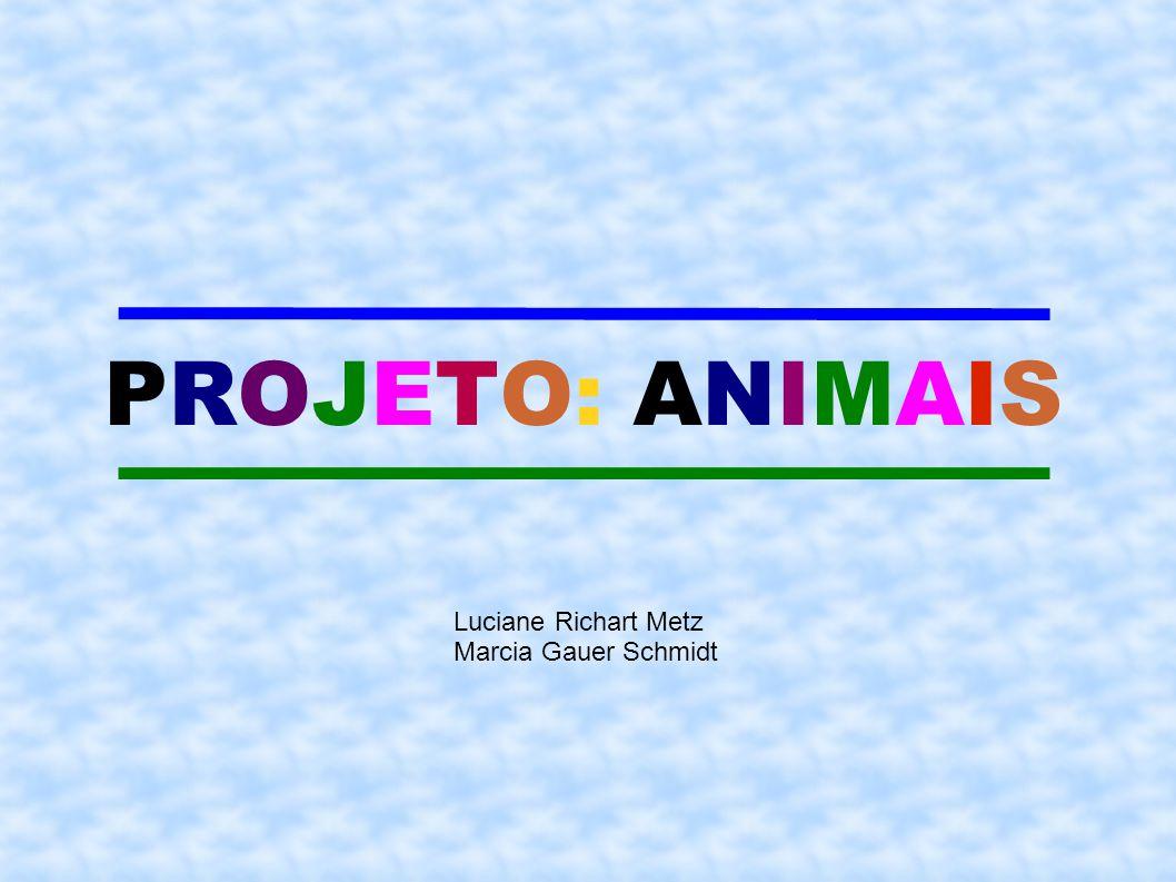 PROJETO: ANIMAIS Luciane Richart Metz Marcia Gauer Schmidt