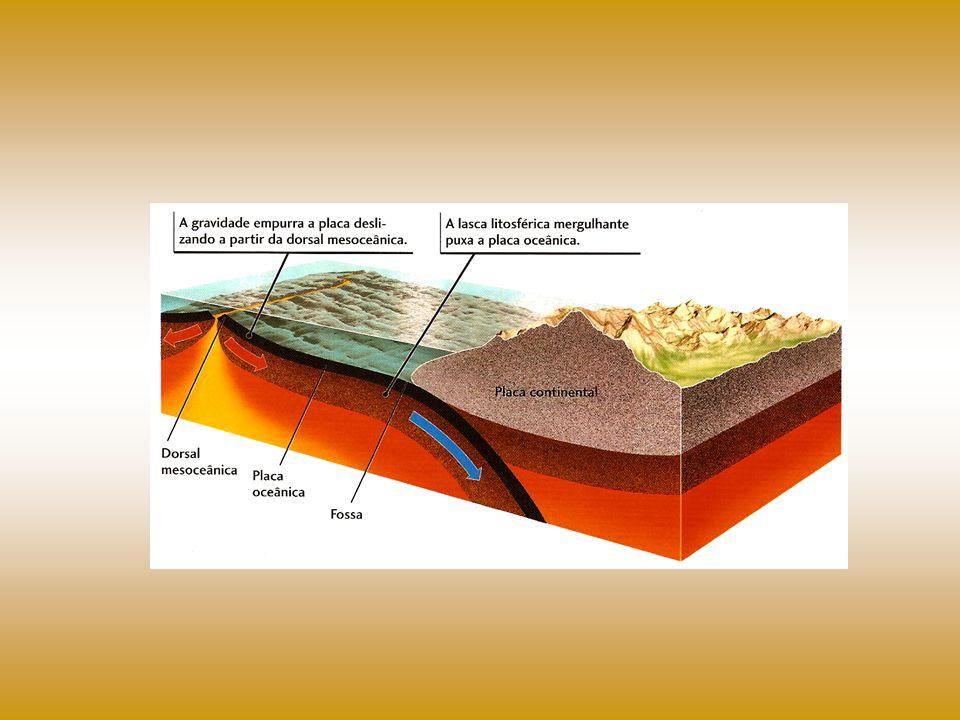 ATIVIDADES SÍSMICAS E VULCÂNICAS As bordas das placas tectônicas constituem áreas em formação ou de dobramento onde ocorrem inúmeros abalos sísmicos, além de atividades vulcânicas.