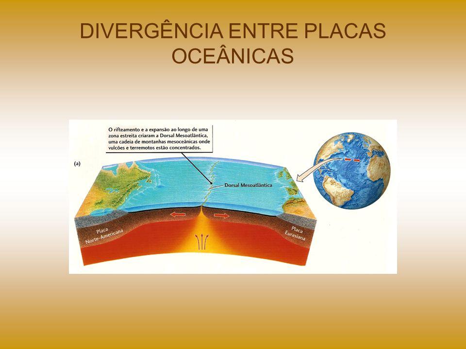 DIVERGÊNCIA ENTRE PLACAS OCEÂNICAS