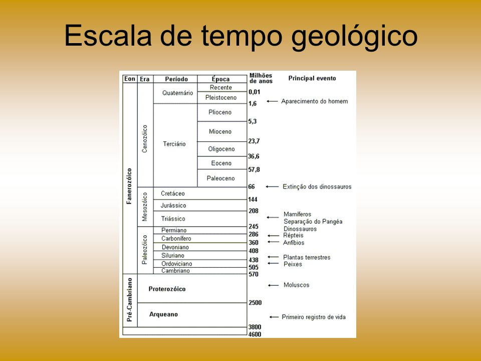 Escala de tempo geológico