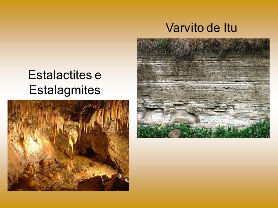 Estalactites e Estalagmites Varvito de Itu
